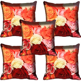 meSleep Multi Rose Digital Printed Cushion Cover 16x16