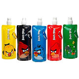 5 Angry Birds Foldable Reusable Water Bottles