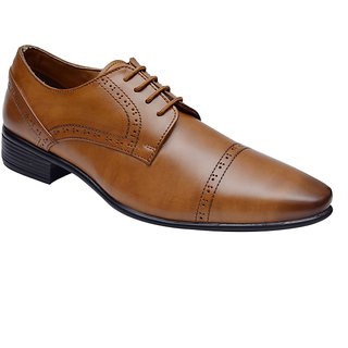 Hirels Tan Derby Shoes