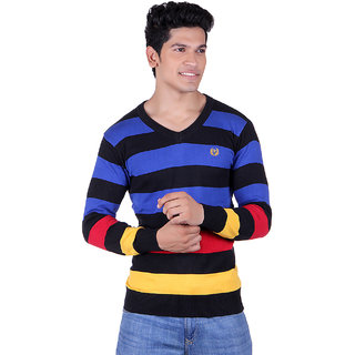 ogarti striped v-neck black Mens sweater