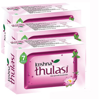 Krishna Thulasi Clear Ayurvedic Beauty Bath Soap 100 g  (Pack of 3)