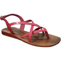 S.L 13007 Fancy Women Leather Pink Sandals