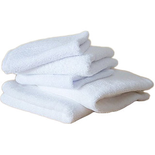 iLiv Plain White 3 Face Towel