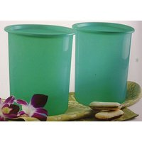 Tupperware One Touch Canister - 1.3 Litre - Set Of 2 - Green Colour