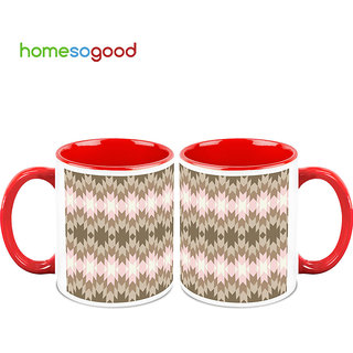 HomeSoGood Superimposing Lights Coffee Mugs (2 Mugs) (HOMESGMUG742-A)