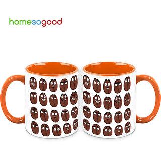 HomeSoGood The Coffee Beans Expressions Coffee Mugs (2 Mugs) (HOMESGMUG487-A)