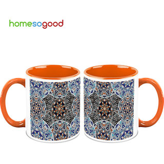 HomeSoGood Surrounded By Bubbles Coffee Mugs (2 Mugs) (HOMESGMUG698-A)