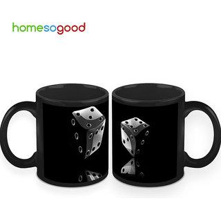 HomeSoGood Tha Game Of Dice Coffee Mugs (2 Mugs) (HOMESGMUG424-A)