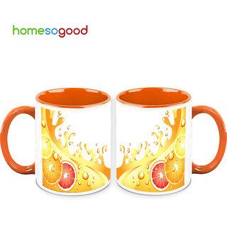 HomeSoGood The Flavor Of Lemon Coffee Mugs (2 Mugs) (HOMESGMUG701-A)