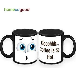 HomeSoGood Coffee Is So Hot Coffee Mugs (2 Mugs) (HOMESGMUG436-A)