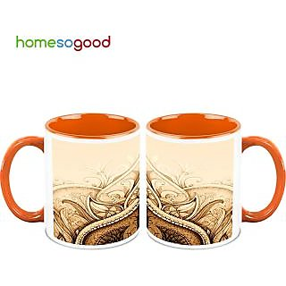 HomeSoGood The Ancient Art Coffee Mugs (2 Mugs) (HOMESGMUG507-A)