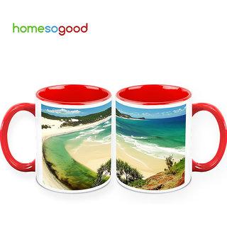 HomeSoGood Beautiful Beach Coffee Mugs (2 Mugs) (HOMESGMUG387-A)