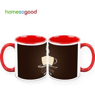 HomeSoGood Drink & Think In Coffee Mugs (2 Mugs) (HOMESGMUG390-A)