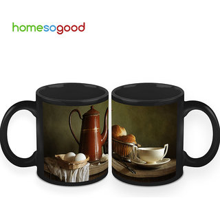 HomeSoGood The Vintage Breakfast Coffee Mugs (2 Mugs) (HOMESGMUG432-A)
