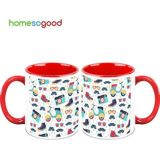 HomeSoGood Ready For A Trip Coffee Mugs (2 Mugs) (HOMESGMUG732-A)