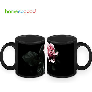 HomeSoGood A Beautiful Rose Coffee Mugs (2 Mugs) (HOMESGMUG417-A)