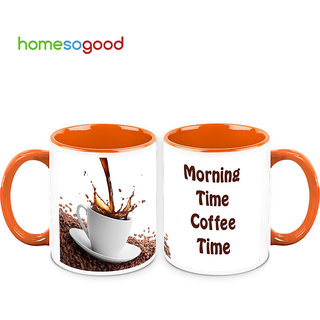 HomeSoGood A Coffee In The Morning Coffee Mugs (2 Mugs) (HOMESGMUG501-A)