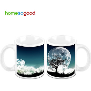 HomeSoGood The Guardians Of The Night Creamic Coffee Mugs (2 Mugs) (HOMESGMUG485-A)