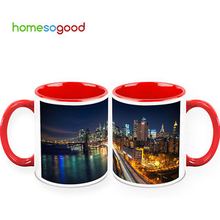 HomeSoGood Mega City Coffee Mugs (2 Mugs) (HOMESGMUG398-A)