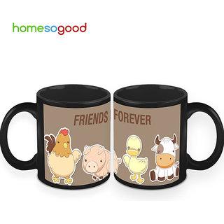 HomeSoGood Friends Forever Coffee Mugs (2 Mugs) (HOMESGMUG439-A)