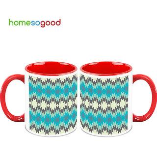 HomeSoGood Blinking Blue Lights Coffee Mugs (2 Mugs) (HOMESGMUG741-A)