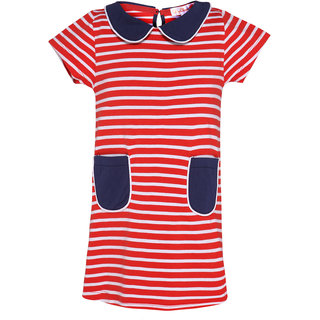 ChipChop Red Striped Casual wear Dresses for Girls