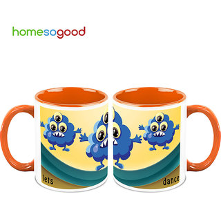 HomeSoGood Its The Time To Disco Coffee Mugs (2 Mugs) (HOMESGMUG711-A)