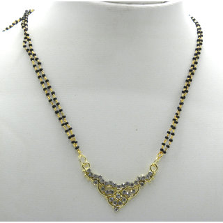 Swar Exclusive Black And Gold Mangalsutra With A Diamond Pendant