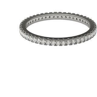 Real Diamonds and Hallmarked 18kt White Gold Ring LA-5WHITEGOLD18KT