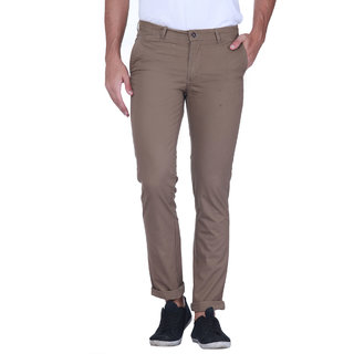 Grasim  Slim Fit Cotton Bird brown Mens Chinos