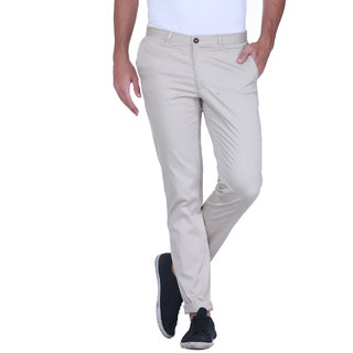Grasim  Slim Fit Cotton Neutral-4 Mens Chinos