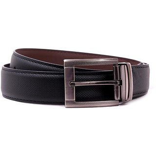 Pacific Gold Reversible Belt 35 Mm (Black/ Brown) - Design 9