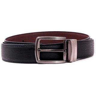 Pacific Gold Reversible Belt 35 Mm (Black/ Brown) - Design 7