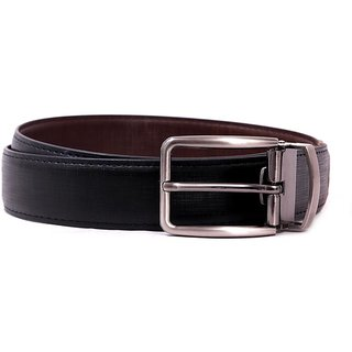 Pacific Gold Reversible Belt 35 Mm (Black/ Brown) - Design 8