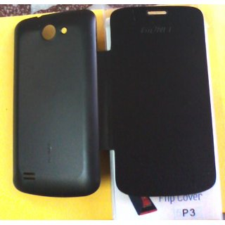 FLIP COVER FOR Gionee pioneer P3 in black colour available at ShopClues for Rs.150