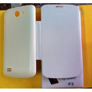 FLIP COVER FOR Gionee pioneer P3 in white colour available at ShopClues for Rs.175