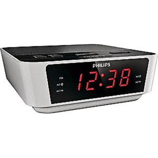 shop philips aj3115 clock radio dual repeat alarm digital fm battery backup time online. Black Bedroom Furniture Sets. Home Design Ideas