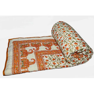 Marwal Jaipuri Hand made block print  Double bed Quilts Material 100% Cotton