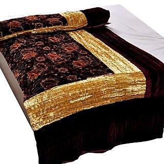 Marwal Jaipuri Double Bed Velvet Quilt 407