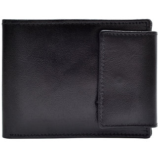 Hawai Buttoned Exquisite Black Wallet for Men