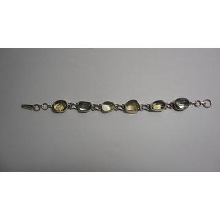 Shoppers Cave Designer Sterling Silver Bracelet Setted With Citrine