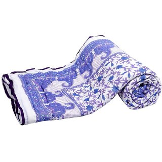 Marwal Pure Cotton Mughal print double bed Jaipuri Razai