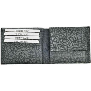 Hawai Ash Colored Texture Leather Wallet for Men