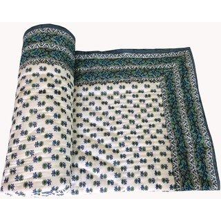 Marwal Beautiful Jaipuri Printed Single Quilt/Razai