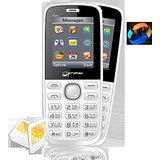 Micromax GC222 GSM + CDMA DUAL SIM MOBILE WITH CAMERA & DIGITAL ZOOM WHITE