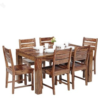 inhouz 6 seater dining table with chair