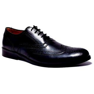 Hirels Black Pure Leather Brogues
