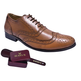 Hirels Tan Leather Brogues