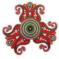 Unique Arts Creative Designed Red Acrylic Rangoli For Diwali
