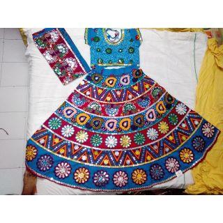 Navratri Special Chaniya Choli for Adults - Free Size (Blue)